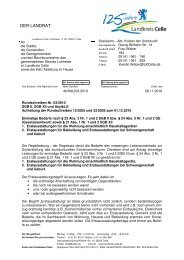 Einmalige Bedarfe; Aufhebung der Rundschreiben - Landkreis Celle