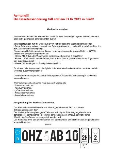 Achtung!!! Die Gesetzesänderung tritt erst am ... - Landkreis Celle