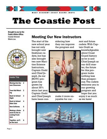 The Coastie Post - MAST Academy Announcements