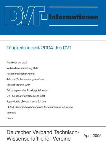 Deutscher Verband Technisch- Wissenschaftlicher Vereine - DVT