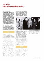 50 Jahre Deutsches Rundfunkarchiv