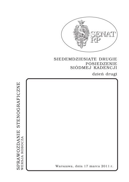 17 Marca Senat Rp Senat Rzeczypospolitej Polskiej