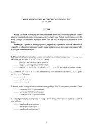 zadania - Międzyszkolne Zawody Matematyczne