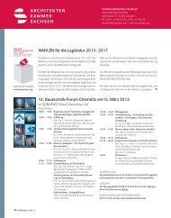 12. Bautechnik-Forum Chemnitz am15. märz 2013 WAhLEn für die ...