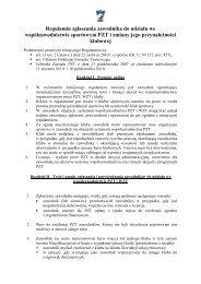 Regulamin zgłaszania zawodnika do udziału we ... - Prawo Sportowe