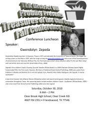 Conference Program - Texas Library Association