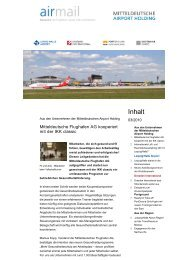 airmail - Newsletter der Fl... - Mitteldeutsche Airport Holding