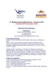 regulamin ostateczny - Maratony Polskie
