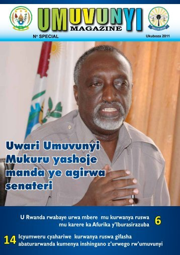 umuvunyi magazine special ukuboza 2011 - Office of the Ombudsman