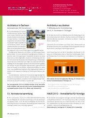 Architektur neu denken Architektur in Sachsen 51 ...