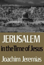 Jerusalem in the Time of Jesus: An Investigation into Economic and ...