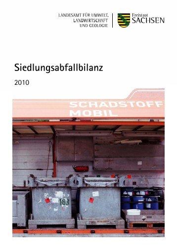 Abfallbilanz des Freistaates Sachsen 2010