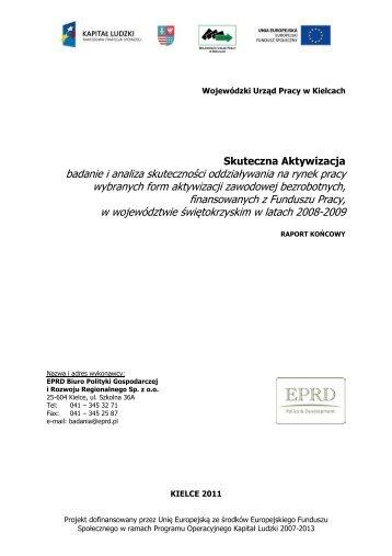 Raport końcowy z badania Skuteczna Aktywizacja - Wojewódzki ...