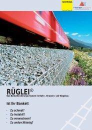 RÜGLEI® Das Bankettsicherungs-System im Bahn ... - GLEISAG