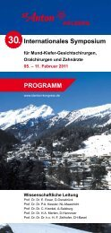 Internationales Symposium - Programm Kongress in St-Anton