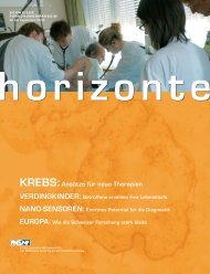 Horizonte Nr. 66 - Gesamtausgabe (PDF, 4.8 MB) - Schweizerischer ...