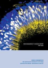 BHG Forschungsbericht Research Report 1999-2002