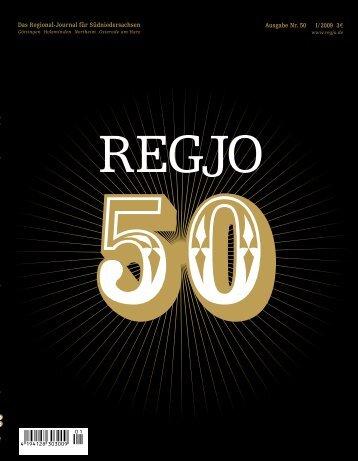 Das Regional-Journal für Südniedersachsen I/2009 33 ... - RegJo