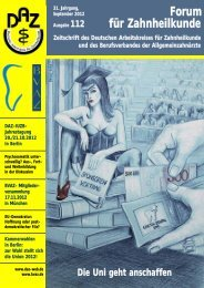 Forum 112 - Deutscher Arbeitskreis für Zahnheilkunde