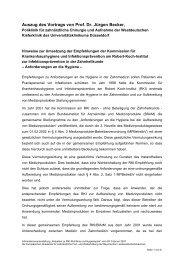 Auszug des Vortrags von Prof. Dr. Jürgen Becker, - Bayerische ...
