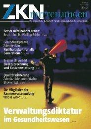 Verwaltungsdiktatur - Zahnärztekammer Niedersachsen