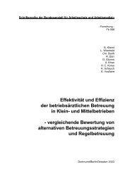 Effektivität und Effizienz der betriebsärztlichen Betreuung in Klein ...