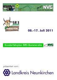Sonderfahrplan SR3-Sommeralm - Landkreis Neunkirchen