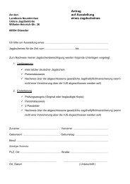 Antrag auf Ausstellung eines Jagdscheines - Landkreis Neunkirchen