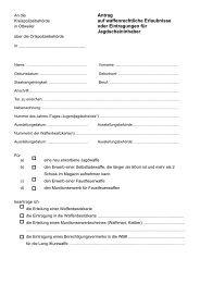 Antrag waffenrechtliche Erlaubnis - Landkreis Neunkirchen