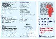 Flyer Gleichstell Programm 1.2011 - Landkreis Neunkirchen