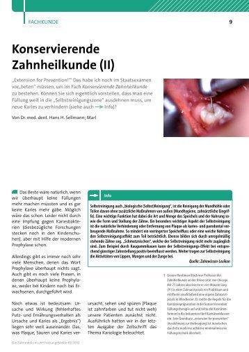 Konservierende Zahnheilkunde (II) - DER ZAHNMANN