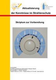 Aktualisierung der Kenntnisse im Strahlenschutz Skriptum zur