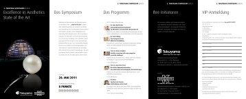 Einladung Berlin 2011 - bei Tokuyama Dental!