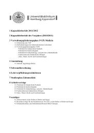 Verwaltungsakte Zahnmedizin 2011/2012 mit Kapazitätsbericht