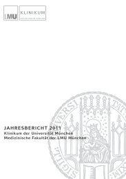 Jahresbericht 2010 - des Klinikums - LMU