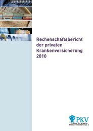 Rechenschaftsbericht der privaten Krankenversicherung 2010