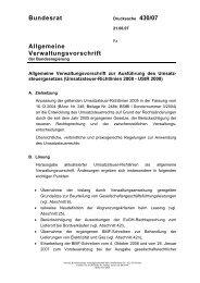 Bundesrat Allgemeine Verwaltungsvorschrift - Umwelt-online