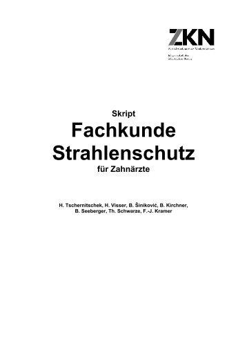 Fachkunde Strahlenschutz - Zahnärztekammer Niedersachsen