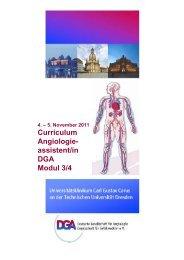 Curriculum Angiologie- assistent/in DGA Modul 3/4