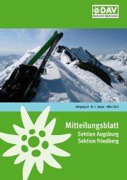 Mitteilungsblatt 2013/1 - Alpenverein Augsburg