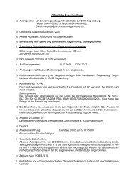 Öffentliche Ausschreibung a) Auftraggeber: Landkreis Regensburg ...