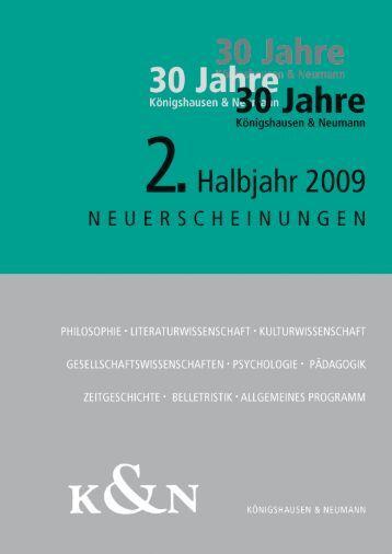 vorschau_2_2009 - Verlag Königshausen & Neumann