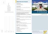 20. Fortbildungstagung Organisatorische Hinweise