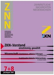 ZKN-Vorstand - Zahnärztekammer Niedersachsen