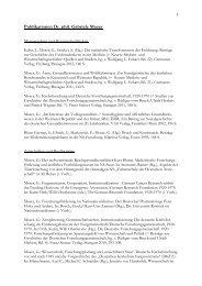Publikationen Dr. phil. Gabriele Moser - Medizinische Fakultät ...