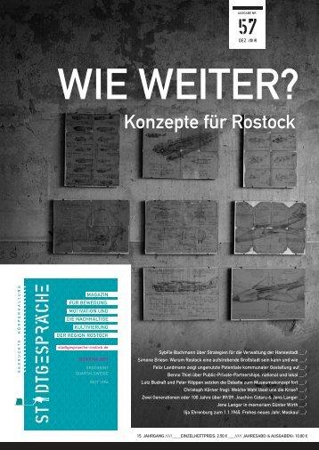 Konzepte für Rostock - Stadtgespräche Rostock