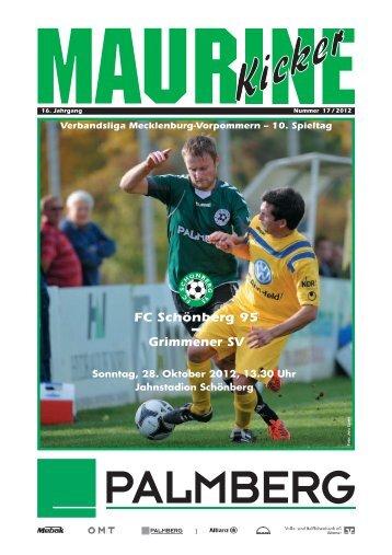 Maurine-Kicker 17/2012 - FC Schönberg 95