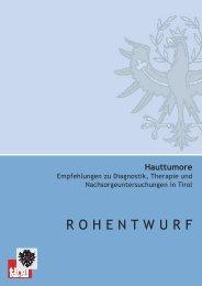 Haut - TAKO - Tiroler Arbeitskreis für Onkologie