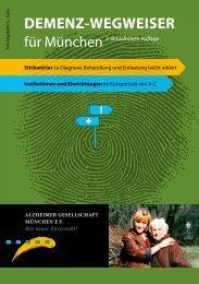 Demenz-wegweiser - Alzheimer Gesellschaft München