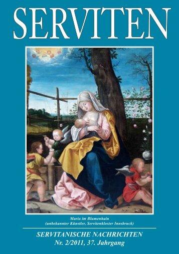 SERVITANISCHE NACHRICHTEN Nr. 2/2011, 37. Jahrgang